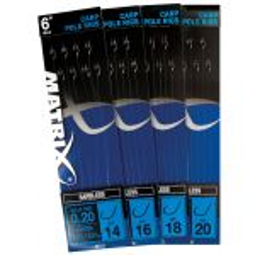 "Fox Matrix 6\"" 15cm Carp Pole rigs barbless 8st."